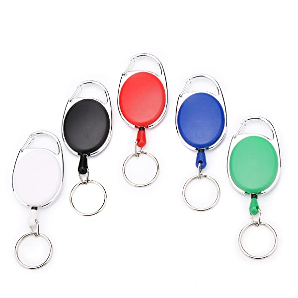 Amazon.com: Fushing 5 colores carretes retráctil Badge ...