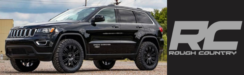 Jeep Grand Cherokee Lift Kit >> Rough Country 60300 2 5 Lift Kit Compatible W 2011 2019 Jeep Grand Cherokee Wk2 Suspension System Run Up To 33 Tires