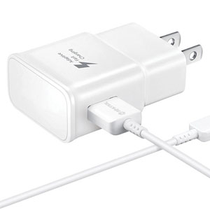 Galaxy S7 Adaptive Fast Charging Wall Charger Kit Set with Micro 2.0 USB Cable, Compatible with Samsung Galaxy S7/Edge/S6/Note5/4/S3 (White)