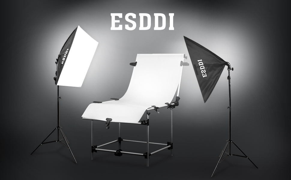 This esddi softbox lighting kit is durable full featured which designed for photography studio portrait and scene