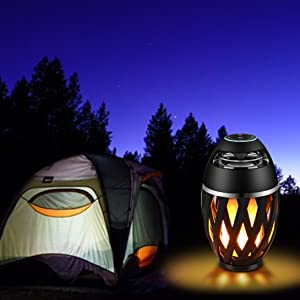 NuLED flame speaker LED speaker light waterproof outdoor camping