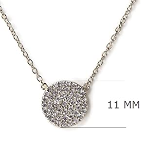 11 mm disc necklace