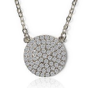 cz crystal pendant necklace