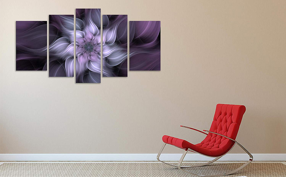 purple wall art