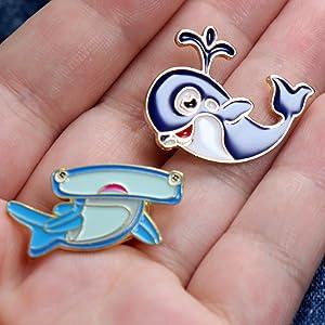 Pilot Whale Marine Ocean Sealife Metal Enamelled Pin Badge Lapel Badge XJKB11-58