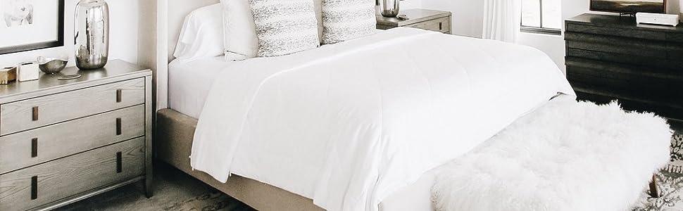 Cozy Earth Bamboo Sheets.Cozy Earth Premium 100 Bamboo Sheets Cooling Sheets Moisture Wicking Softer Than Cotton Deep Pockets 4 Piece Bed Sheet Set Queen White