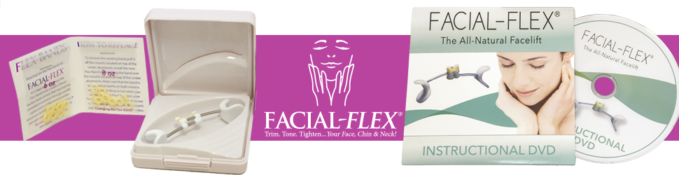 Facial Flex Facial Exercise and Neck Toning Kit Facial Flex Device, Facial Flex Bands 8 oz & 6 oz Packs & Carrying Case - FDA-Registered Exercise ...