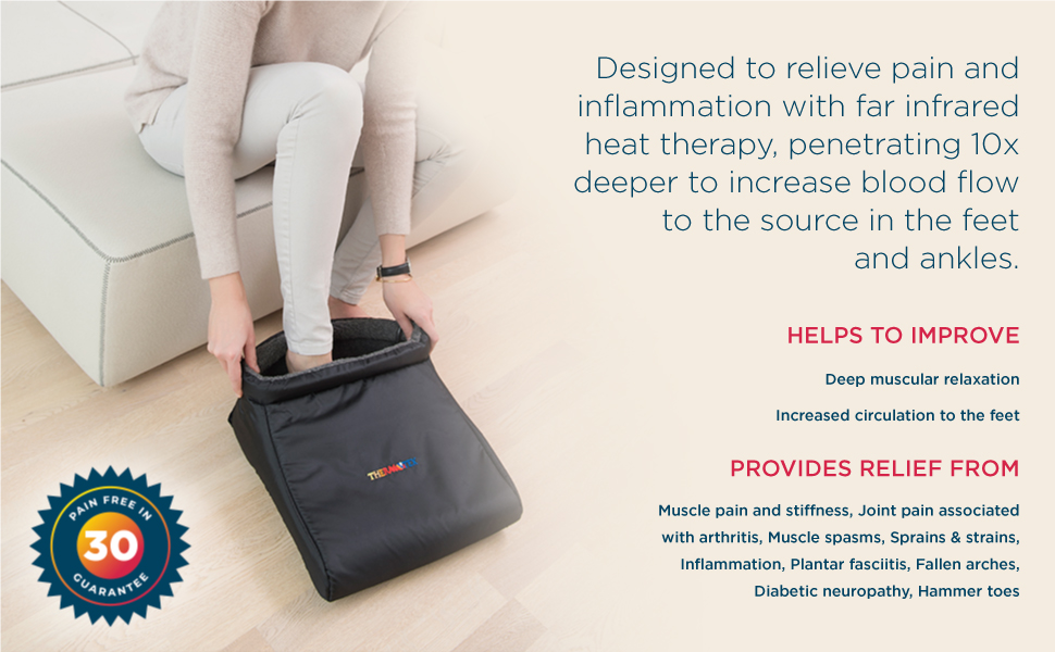thermotex, foot, heating pad, treatment, therapy