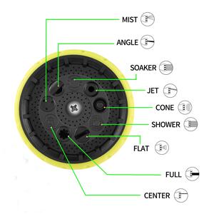 9-setting hose nozzle