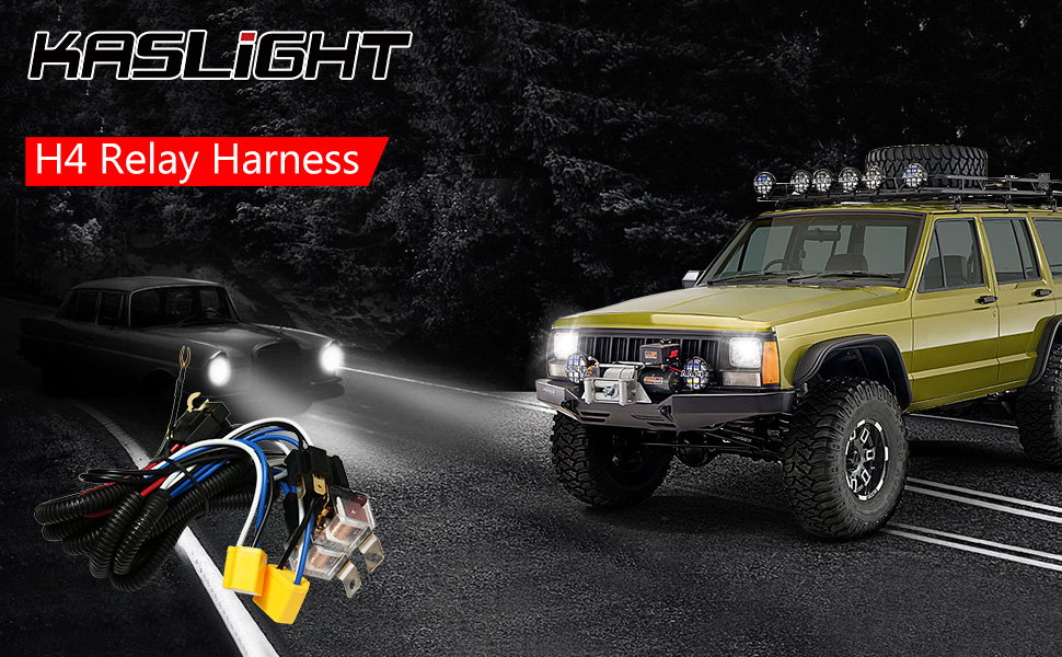 Amazon Com 1set 2 Headlight Harness H4 Headlight Relay Harness