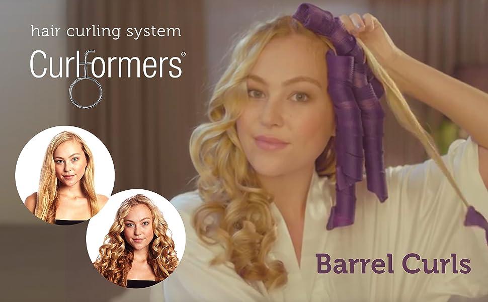 Amazoncom Curlformers Hair Curlers Deluxe Range Barrel Curls