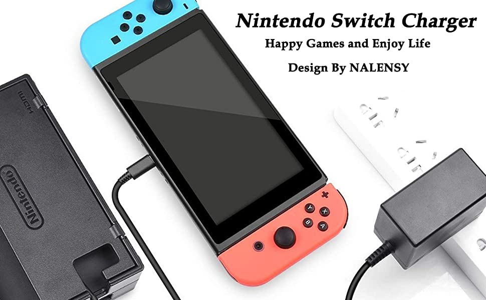 Amazon.com: Switch Charger for Nintendo Switch Power Supply ...