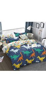 dinosaur bed duvet cover set coverlet bedspread soft breathable cute sheet pillow
