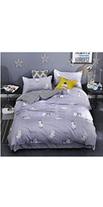 kids twin bedding sets twin grey navy tripe girls boys cat loving cute cat duvet cover pillow cases