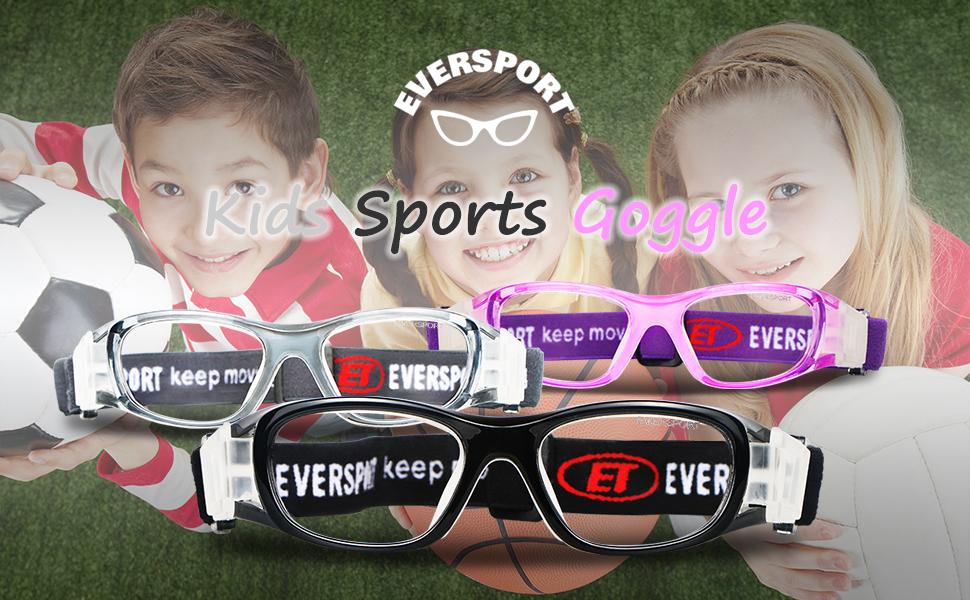 027ebd6953 Amazon.com  EverSport Kids Sports Goggles Children Sport Goggles ...