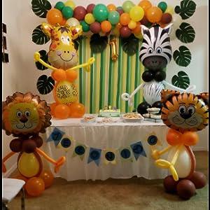 Amazon.com: Animal Decorations Safari Party Supplies ...