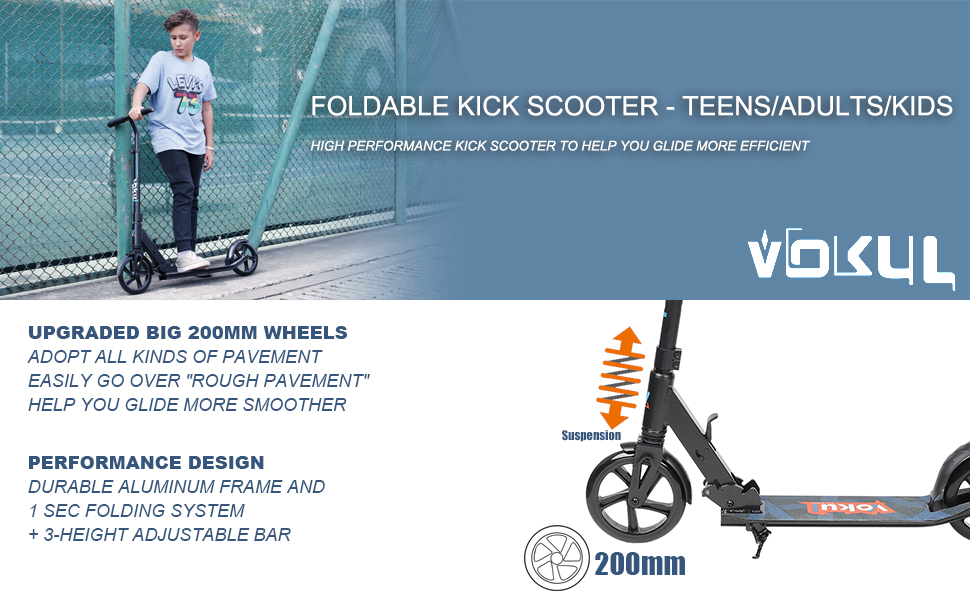 Amazon.com: Vokul Commuter Urban patinete para adolescentes ...