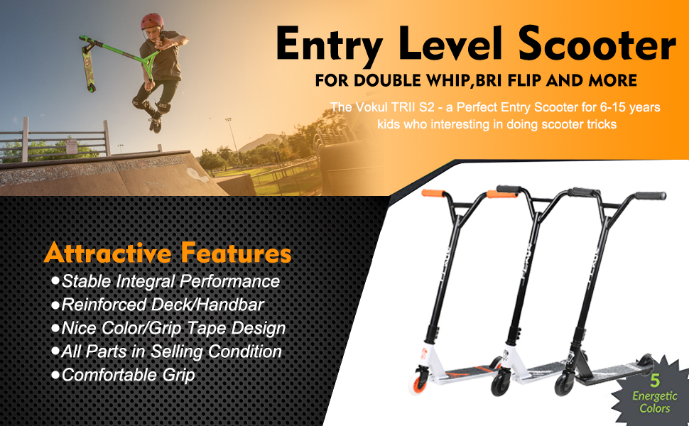 Amazon.com: VOKUL S2 Tricks Pro Stunt Scooter con ...