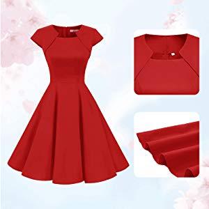 women 1950s dress