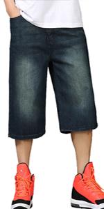 e3ac7c8f Aishang Men's Hip-hop Washed Blue Baggy Jeans Multi-Pocket Cargo Jeans ·  SWORLD Men's Fashion Trends Fold Styles Locomotive Jeans Motorcycle Racing  Pants ...