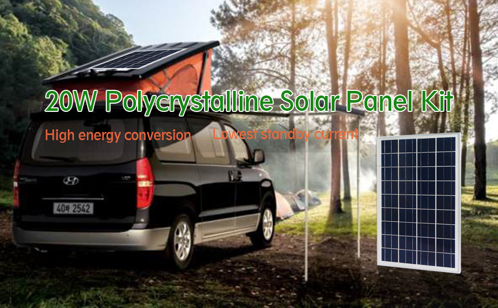 20W Polycrystalline Solar Panel Kit
