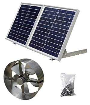 Ready To Use Solar Power Attic Gable Roof Vent Kit