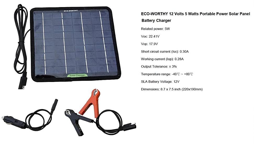 Amazon Com Eco Worthy 12 Volts 5 Watts Portable Power