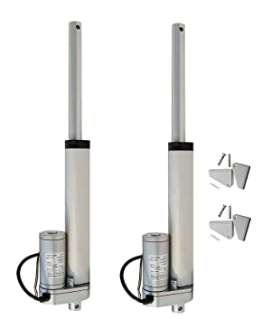 ECO-WORTHY 6 Inch Linear Actuator 12 Volt 225 Pounds Lbs Maximum Lift with  Mounting Brackets