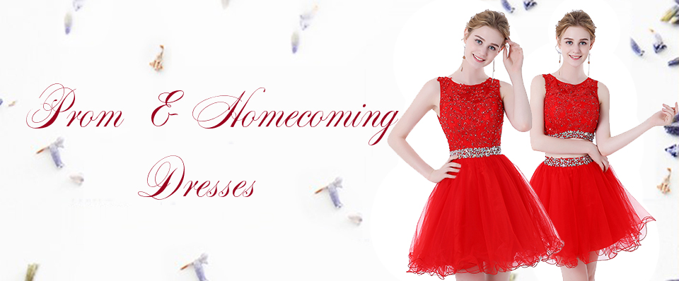 HEIMO Women\'s Beaded Lace Homecoming Dresses Short Sequins Appliques ...