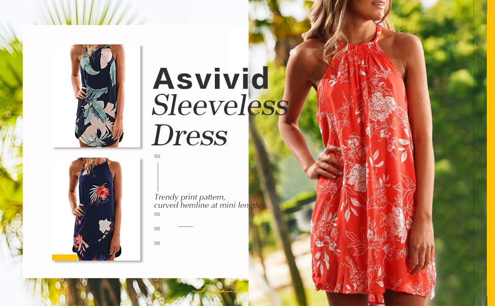 e869d5cd56e Product Description. Two Pattern you can choose Halter Floral Mini Dress Off  ...