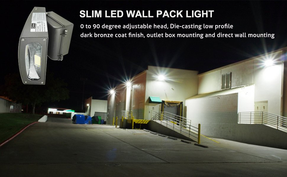 Jmkmgl 30w Slim Led Wall Pack 0 To 90 Degree Adjustable