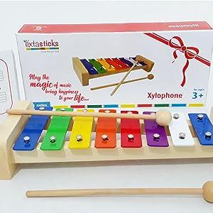 xylophone kids babies music children toys instrument autist girls boys metal keys  gifts