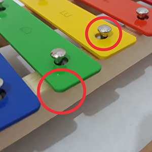 xylophone safe secure metal keys color wooden percussion toy mallets bag notes musical instrument