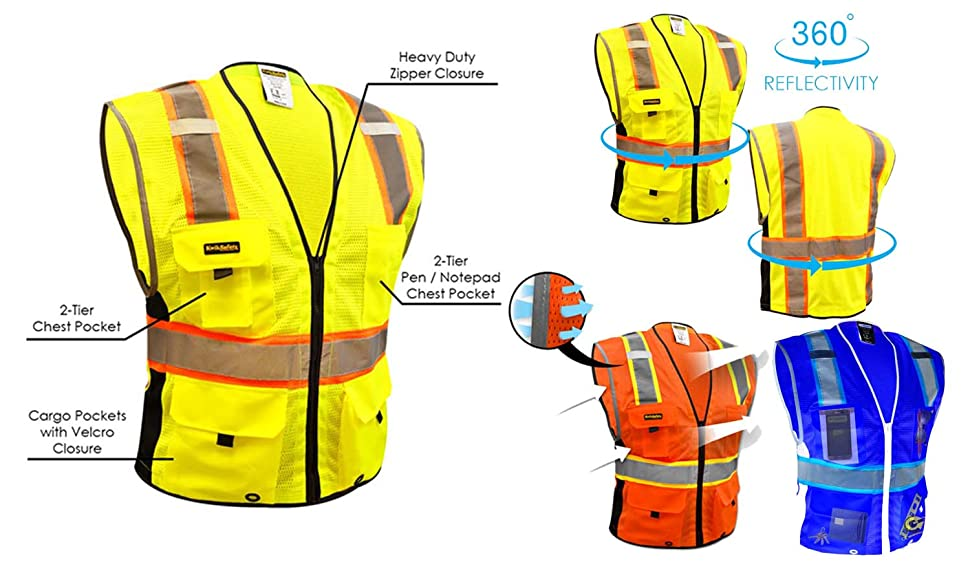 KwikSafetys High Visibility Safety Vests Or Hi Vis Improves To Prevent Injury Those Who Wear It This Reduces The Risk Of Serious