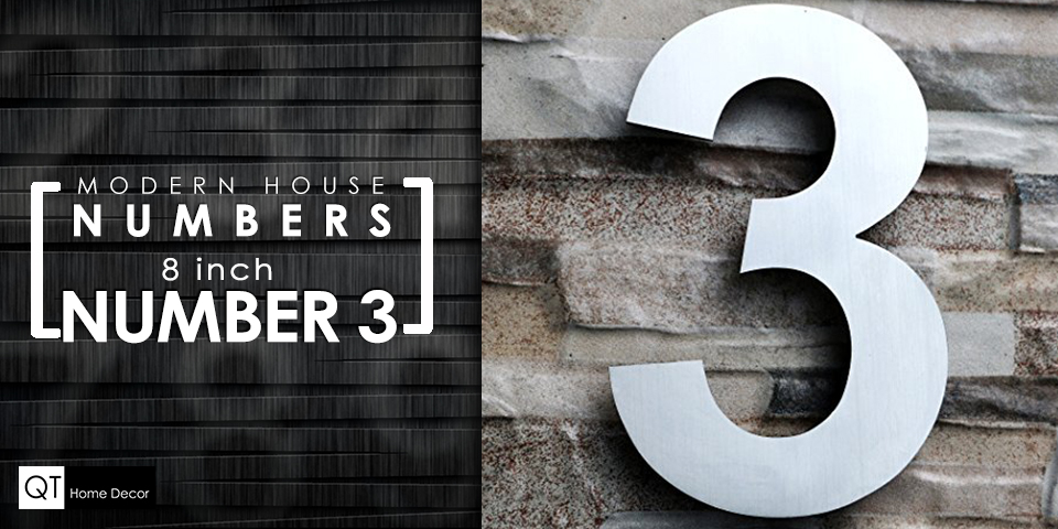 color choices 8 inch Modern House Address Numbers Letters
