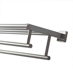 Chrome Louisburg Square Towel Ring Modern Square Wall Mount