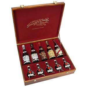 giuseppe giusti scrigno collection balsamic vinegar collection gift set in wooden box
