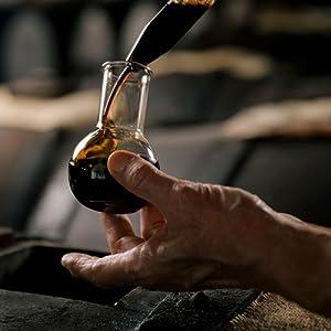 balsamic vinegar aged in wood barrels