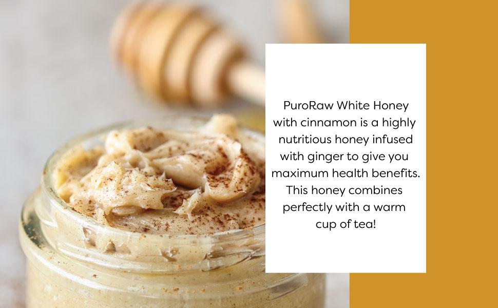 Honeína cruda con canela, miel blanca pura sin filtrar de ...