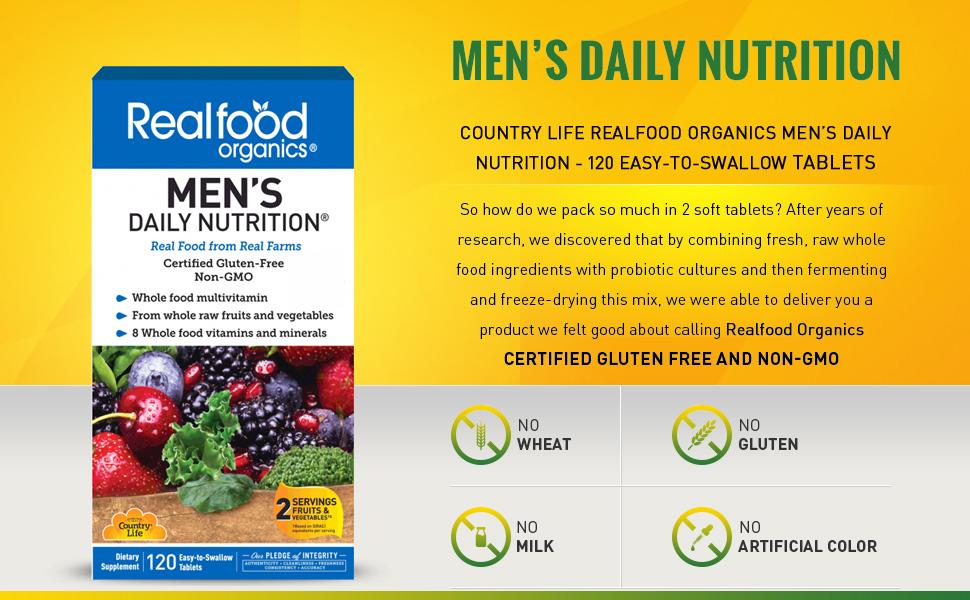 Amazon.com: País vida realfood Organics Hombres diaria de la ...