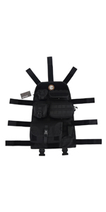 Black OneTigris Multi-Purpose MOLLE Gear Panel Organizer Patch Display Board with 16 Grommeted Holes