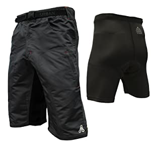 FRIX Every Day MTB Cycling Shorts Off Road Cycle Bicycle Cool Max Padded Liner