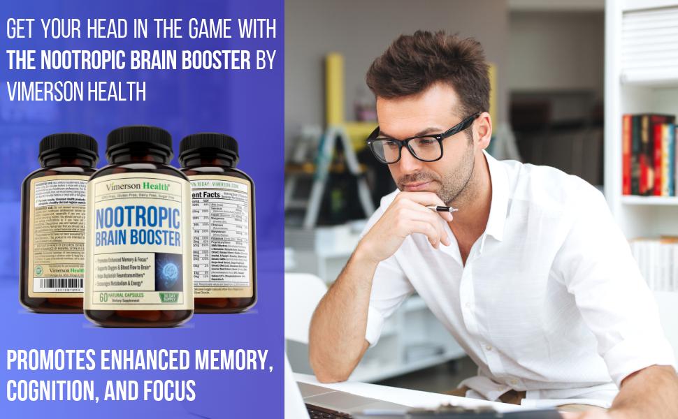 Nootropic Brain Booster Vimerson Health Memory Man Focus