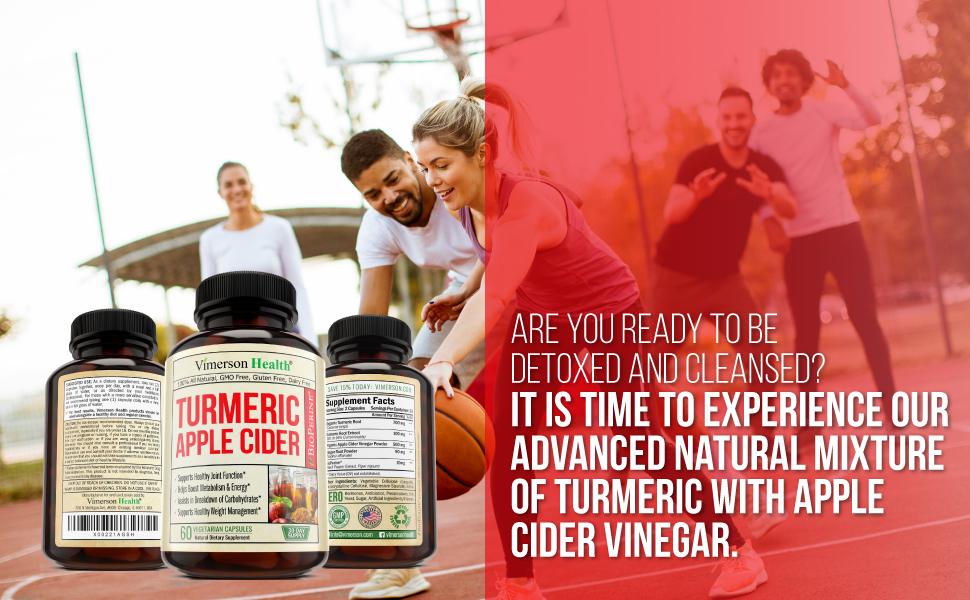 Turmeric Apple Cider Vinegar Vimerson Health Dietary Supplement