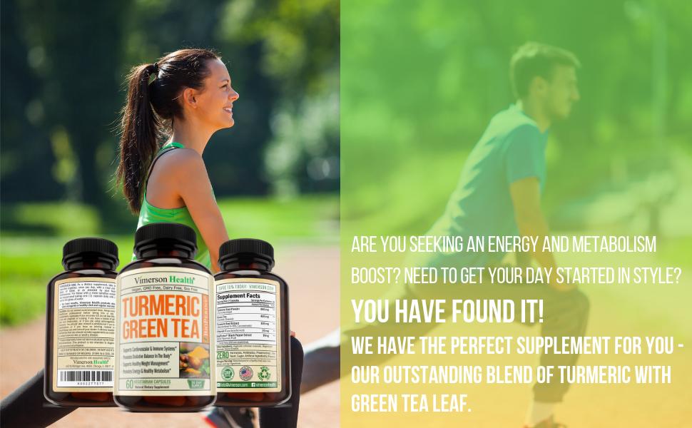 Turmeric Green Tea Vitamin C Bioperine Vimerson health