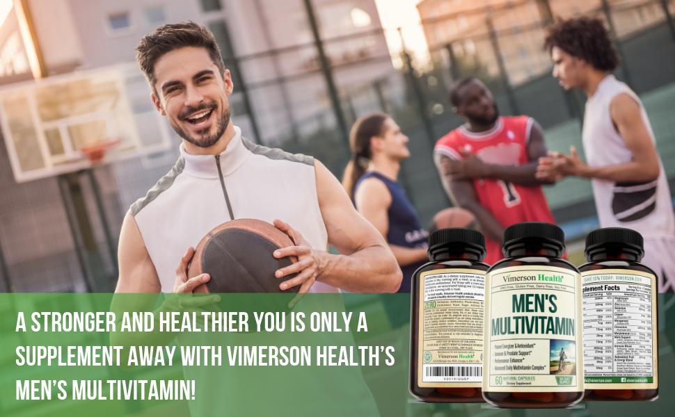 Men's Multivitamin Vimerson Health Supplement Man Men