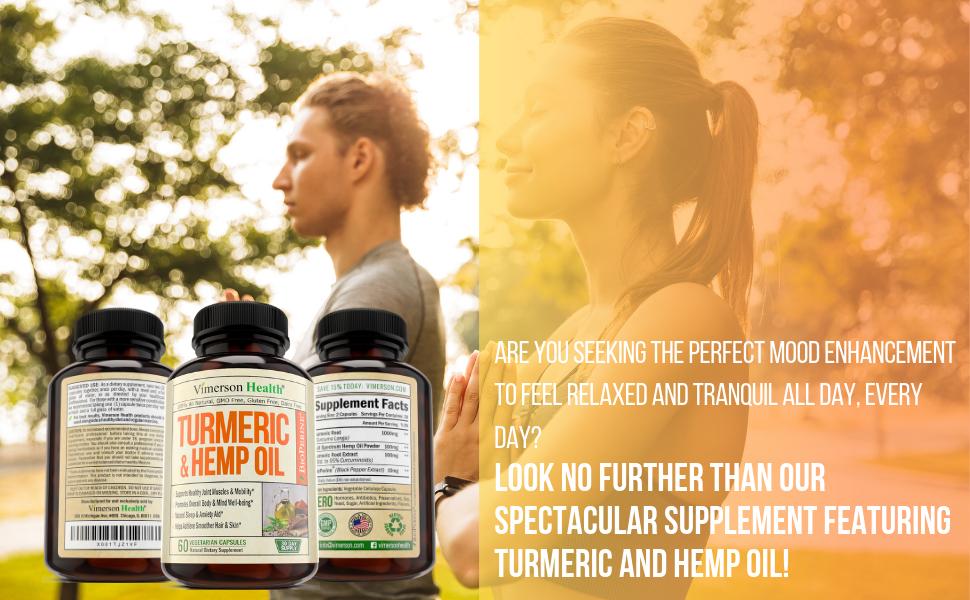 Turmeric Hemp Oil Vimerson Health Man Woman