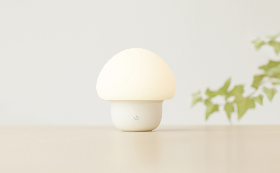Portable Silicone Cute Mushroom Nursery Night Lamp