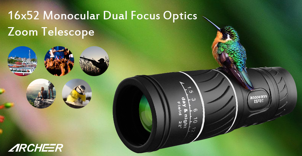 Amazon.com : archeer 16x52 monocular dual focus optics zoom