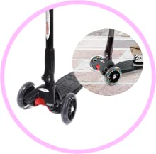 ChromeWheels Scooter for Kids Foldable with 3 PU Wheels